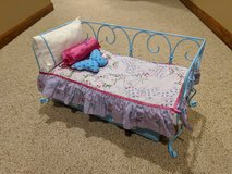 American Girl Curlicue Daybed with Trundle Bed and Bedding in Joliet, Illinois