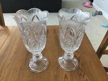 Crystal hurricane lamps in Vacaville, California