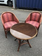 Pair of Cane Chairs and table in Lakenheath, UK
