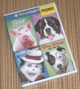NEW 4 Movie Fun Pack Promo DVD Babe Beethoven Cat In The Hat Little Rascals in Plainfield, Illinois