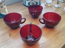 ruby red punch cups (replacements) in Yucca Valley, California