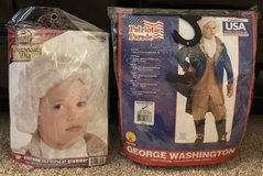 George Washington Child Costume & Wig, Sz Medium in Fort Campbell, Kentucky