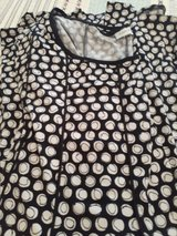 Black and white circle dress in Fort Campbell, Kentucky