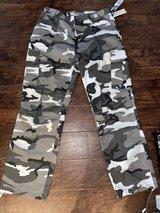 Brand new with tags camo cargo pants size 38x32 in Naperville, Illinois