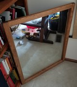 "31""x41"" Red Oak Framed mirror in Chicago, Illinois"