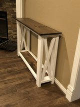New farmhouse console table in Spring, Texas