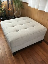Light grey ottoman 3ft by 3ft like New! in Okinawa, Japan