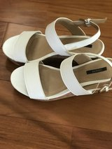 White wedges sandals size 9 in Okinawa, Japan