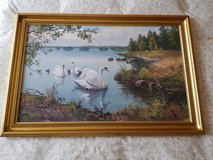 Gold Framed Swan Lake Picture in Ramstein, Germany