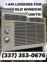 I BUY OLD, USED WINDOW UNITS in Leesville, Louisiana