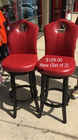 Set of Red Pair Stools (New) in Fort Leonard Wood, Missouri