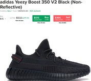 YEEZY  350 V2 BLACK 9.5 LIGHTLY USED in Ramstein, Germany