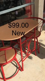 Red Table with Two chairs (New) in Fort Leonard Wood, Missouri