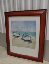 """Two Moored Boats"" Framed Print in Kingwood, Texas"