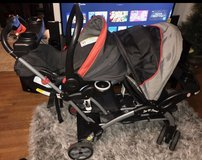 Double Stroller and Car Seat Set( Sit and Stand) in Clarksville, Tennessee