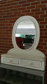 Wicker dresser top mirror in Warner Robins, Georgia