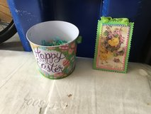 Easter pail and picture in Camp Lejeune, North Carolina
