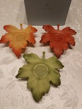 Party Lite Leaf Candle Holder Set in Spangdahlem, Germany