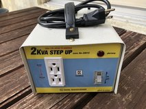 2KVA Step Up Transformer in Okinawa, Japan