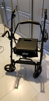 Drive Medical Duet Dual Function (Transport Wheel Chair and Rotating Rolling Walker in Leesville, Louisiana