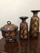 Candle stand and bowl set of 3 in Conroe, Texas