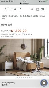 Arhaus Maya Queen bed in Kansas City, Missouri