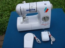 WHITE MINI MENDER, LIGHTWEIGHT PORTABLE COMPACT SEWING MACHINE in Naperville, Illinois
