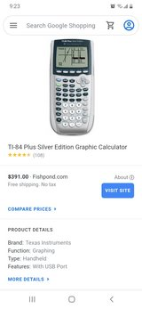 TI-84 Plus Silver Edition in Clarksville, Tennessee