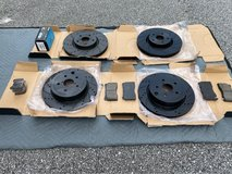 Black Hart cross-drilled slotted rotors and ceramic pads front and rear in Okinawa, Japan