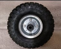 "New 10"" 4.10/3.50-4 replacement wheel + tube tire Max 300LBS in Bartlett, Illinois"