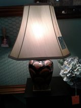 Blue/Multi Color Glazed Pottery DBL Lamp & Shade #2031-822 in Camp Lejeune, North Carolina