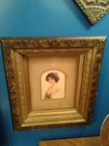 Vintage Hand Colored Lady in Wood Frame #266-2521 in Camp Lejeune, North Carolina