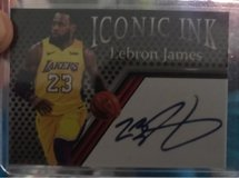 Lebron James iconic ink signed basketball trading card in Wilmington, North Carolina