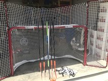 Hockey Net and Sticks in Fort Campbell, Kentucky