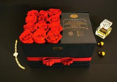 L size rose box with real preserved roses of Diamonia Rose - gift - everlasting roses in Ramstein, Germany