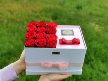 L size rose box with real preserved roses - gift - everlasting roses in Ramstein, Germany