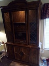 China cabinet in Fort Polk, Louisiana