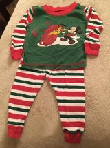 6-12M Mickey Holiday PJs in Chicago, Illinois