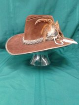 80's Plainsmen Leather Hat/Braided-feathered Band #2412-205 in Camp Lejeune, North Carolina