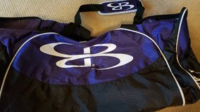 Large purple and black duffel bag in Houston, Texas