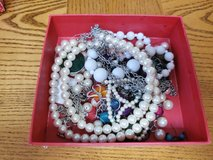 box of odds and end jewelry in 29 Palms, California
