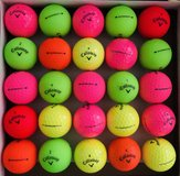 25 colorful Callaway Supersoft balls near mint condition in Oswego, Illinois