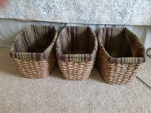 3 Baskets with liners in Warner Robins, Georgia