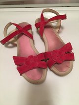 Clarks red sandals in Plainfield, Illinois
