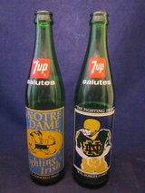 Notre Dame Football 1973 & 1977 National Champions 7up  Bottles in Batavia, Illinois