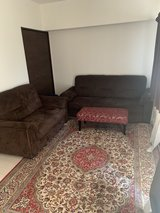 Couch, ottoman, area rug in Okinawa, Japan