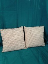 Pair of Pier 1 Red & Tan on Gold Pillows #1433-13 in Camp Lejeune, North Carolina