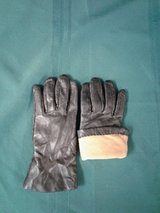 Black, Leather & Cashmere Women's Gloves #1440-894 in Camp Lejeune, North Carolina