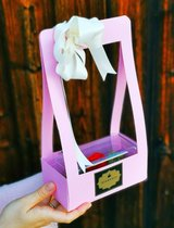 Acrylic Rosebox with preserved rose (can live 1-3 years) in it's bag in Ramstein, Germany