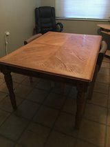 Solid Wood 6-8 foot Table (Sliding Drawers) in Alamogordo, New Mexico